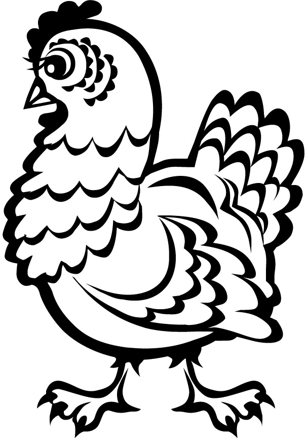 chicken coloring pages chicken nugget coloring page at getcoloringscom free chicken pages coloring