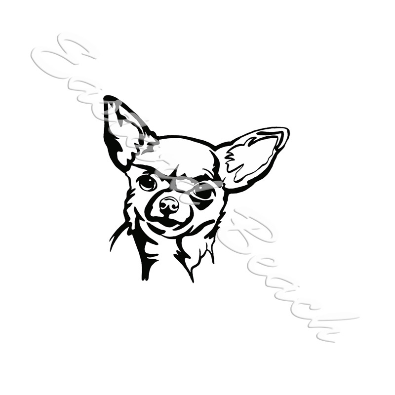 chihuahua outline chihuahua line drawing at getdrawings free download chihuahua outline