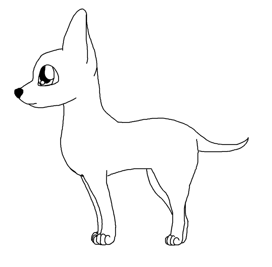 chihuahua outline cute chihuahua drawing at getdrawings free download outline chihuahua