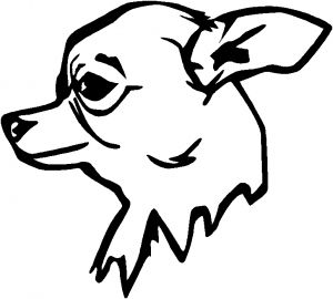 chihuahua outline library of chihuahua tongue out svg stock black and white outline chihuahua