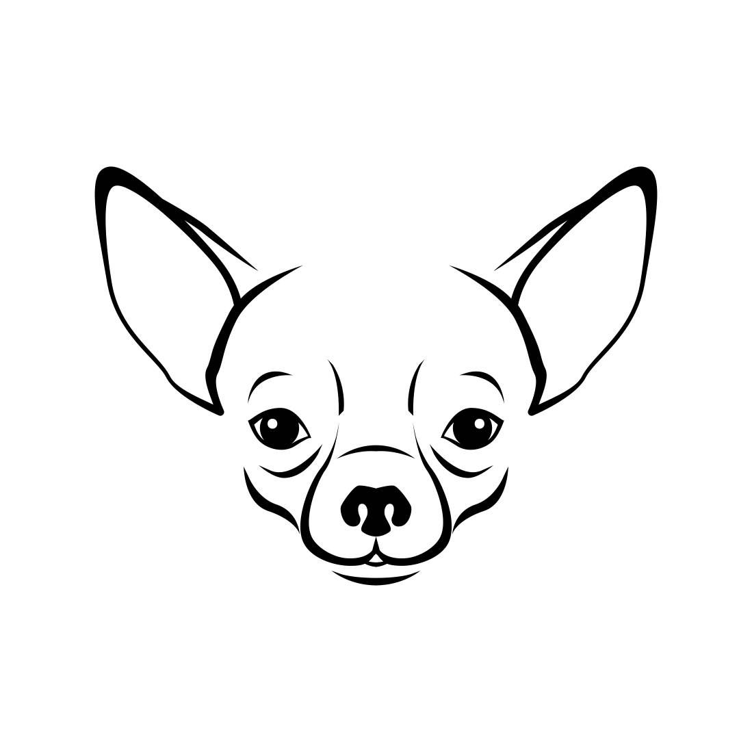 chihuahua outline outline of chihuahua to draw go back gt pics for gt mean outline chihuahua