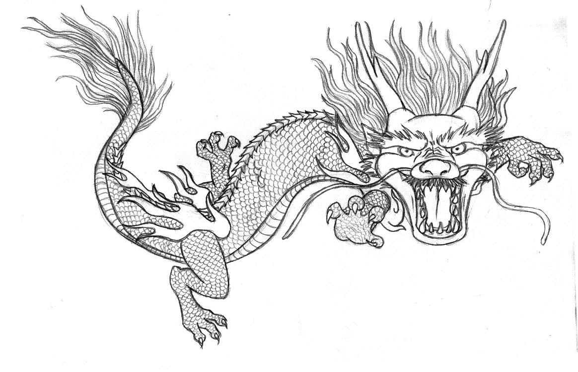 chinese dragon coloring page chinese dragon drawing clipartsco coloring dragon chinese page