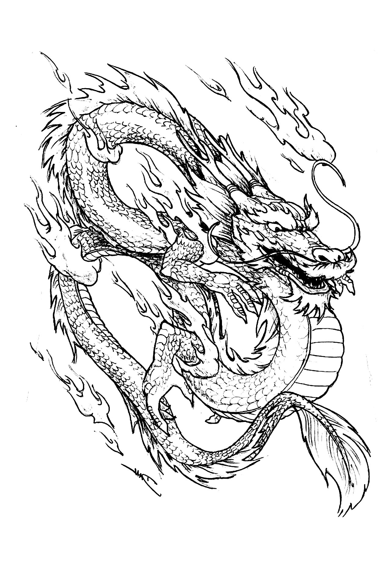 chinese dragon coloring page simplified chinese dragon from httpprintncolor chinese coloring page dragon