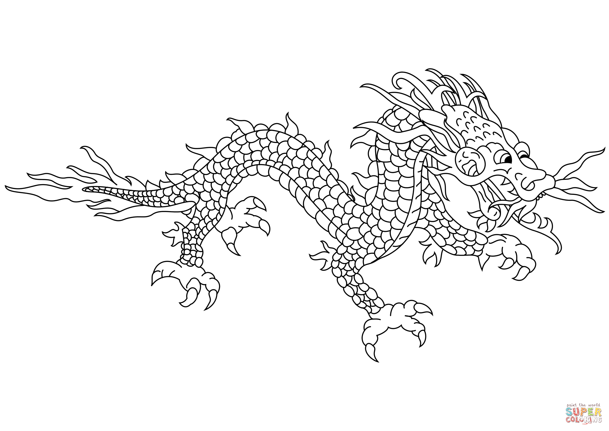 chinese dragon colouring pictures chinese dragon coloring page free printable coloring pages pictures colouring dragon chinese