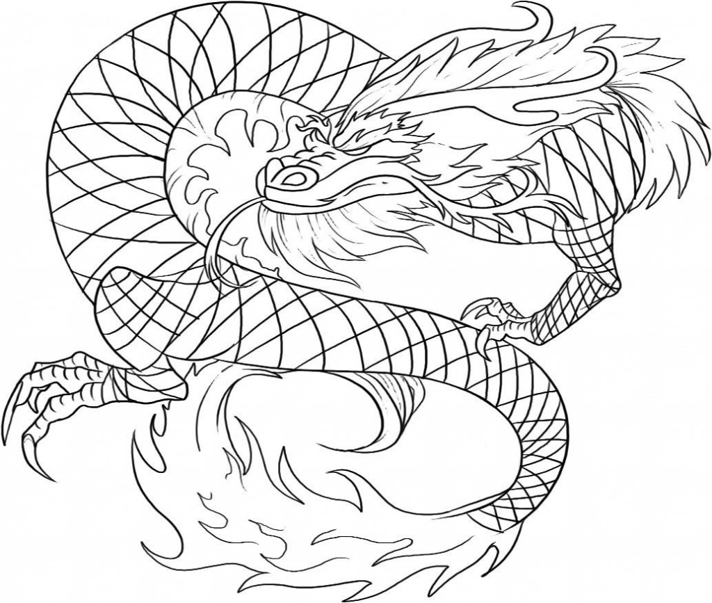 Chinese dragon colouring pictures