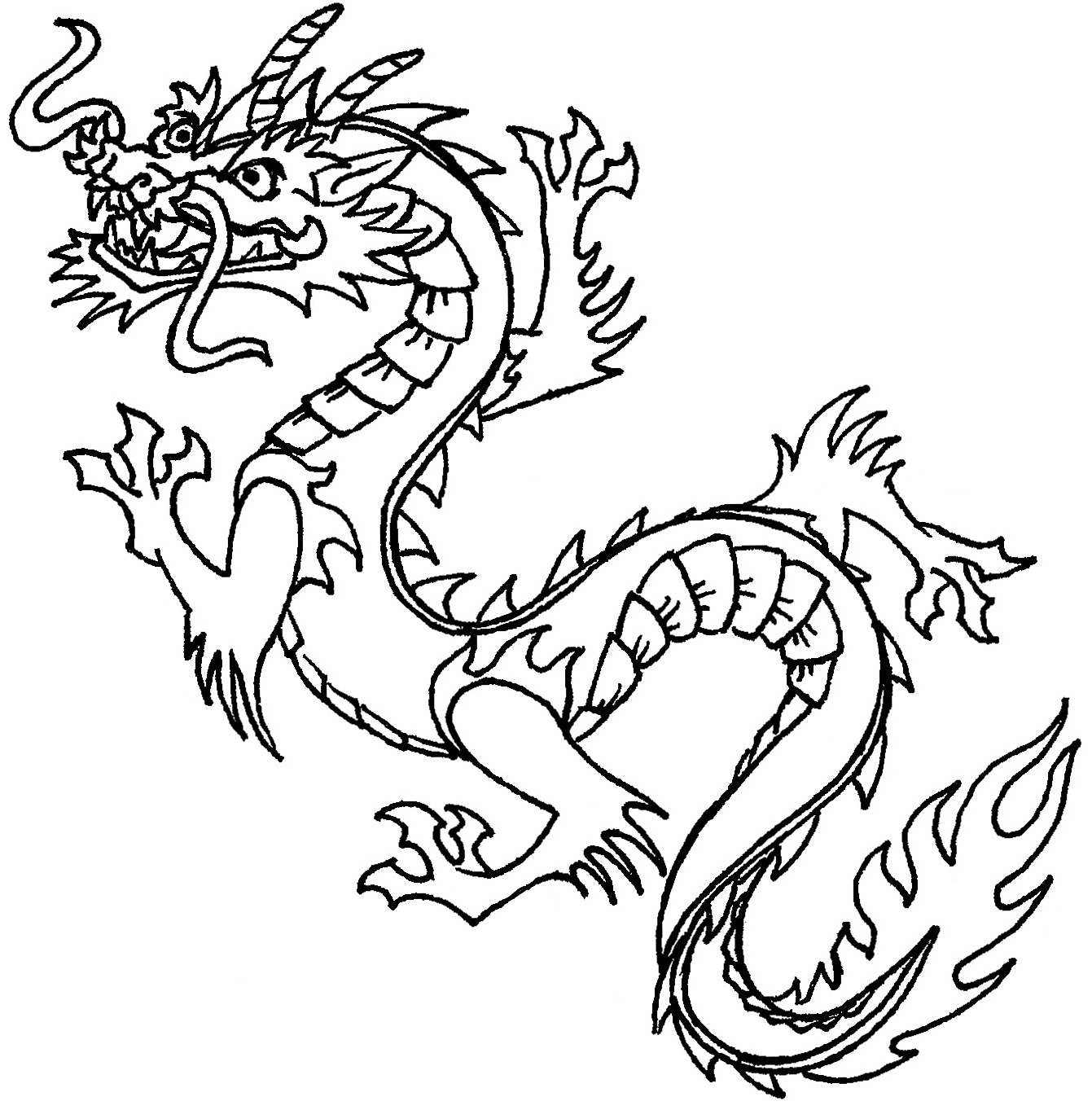 chinese dragon colouring pictures simplified chinese dragon from httpprintncolor pictures dragon chinese colouring