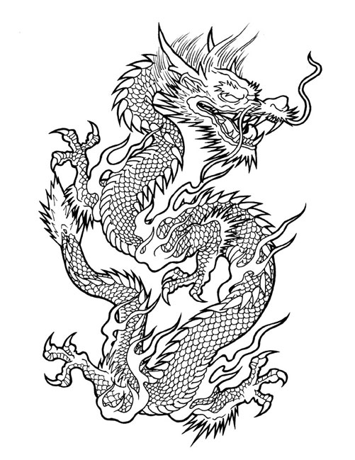 chinese dragon outline dragon outline drawing at getdrawings free download outline chinese dragon