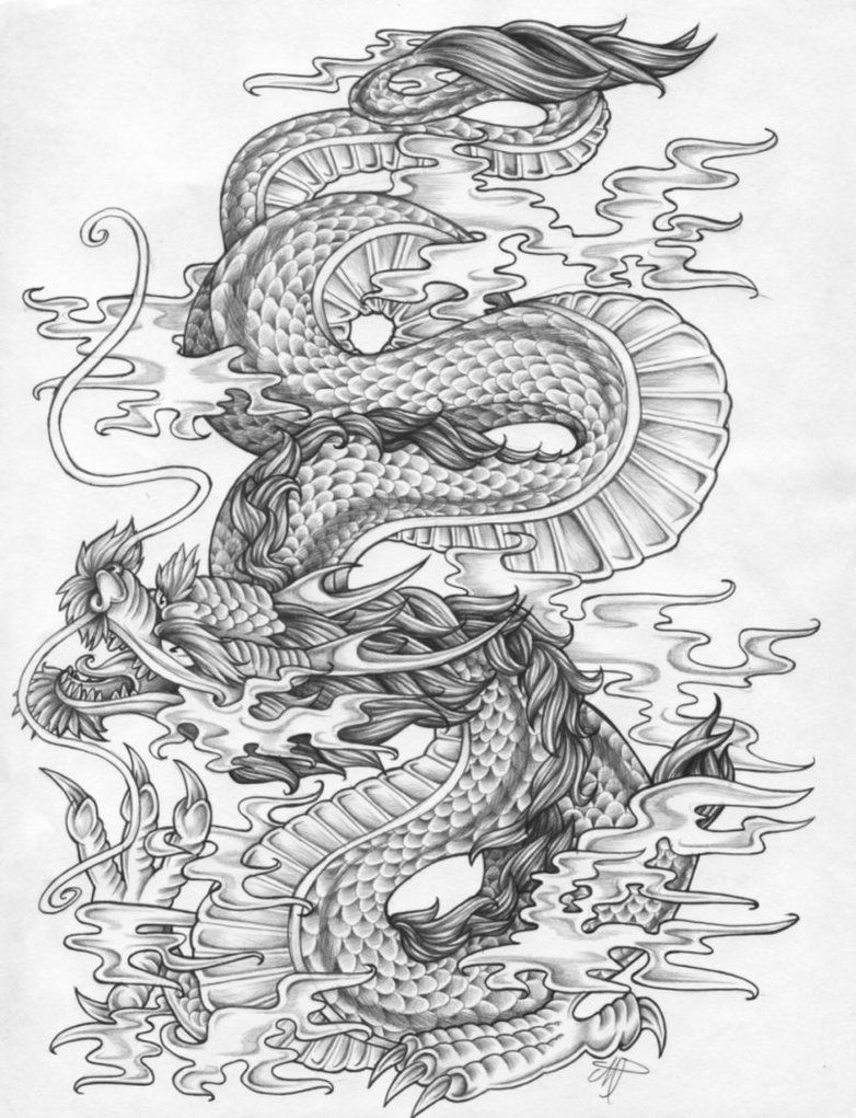 chinese dragon outline dragon tatuajes japoneses tatuajes dragones y dragones outline chinese dragon