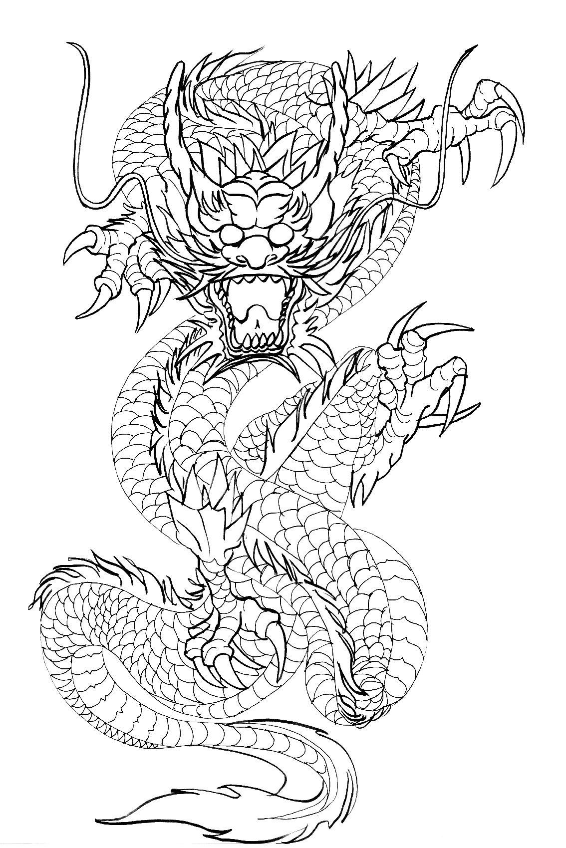chinese dragon outline pin by southnblue on my art dragon illustration dragon outline dragon chinese