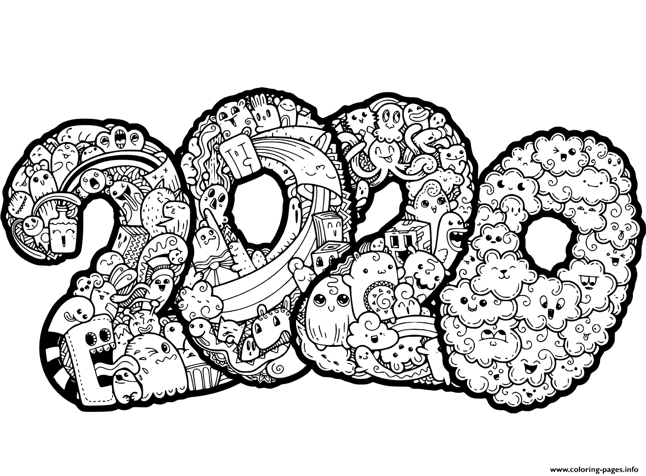 chinese new year coloring pages 2020 happy new year 2020 coloring pages coloring home coloring chinese year pages new 2020