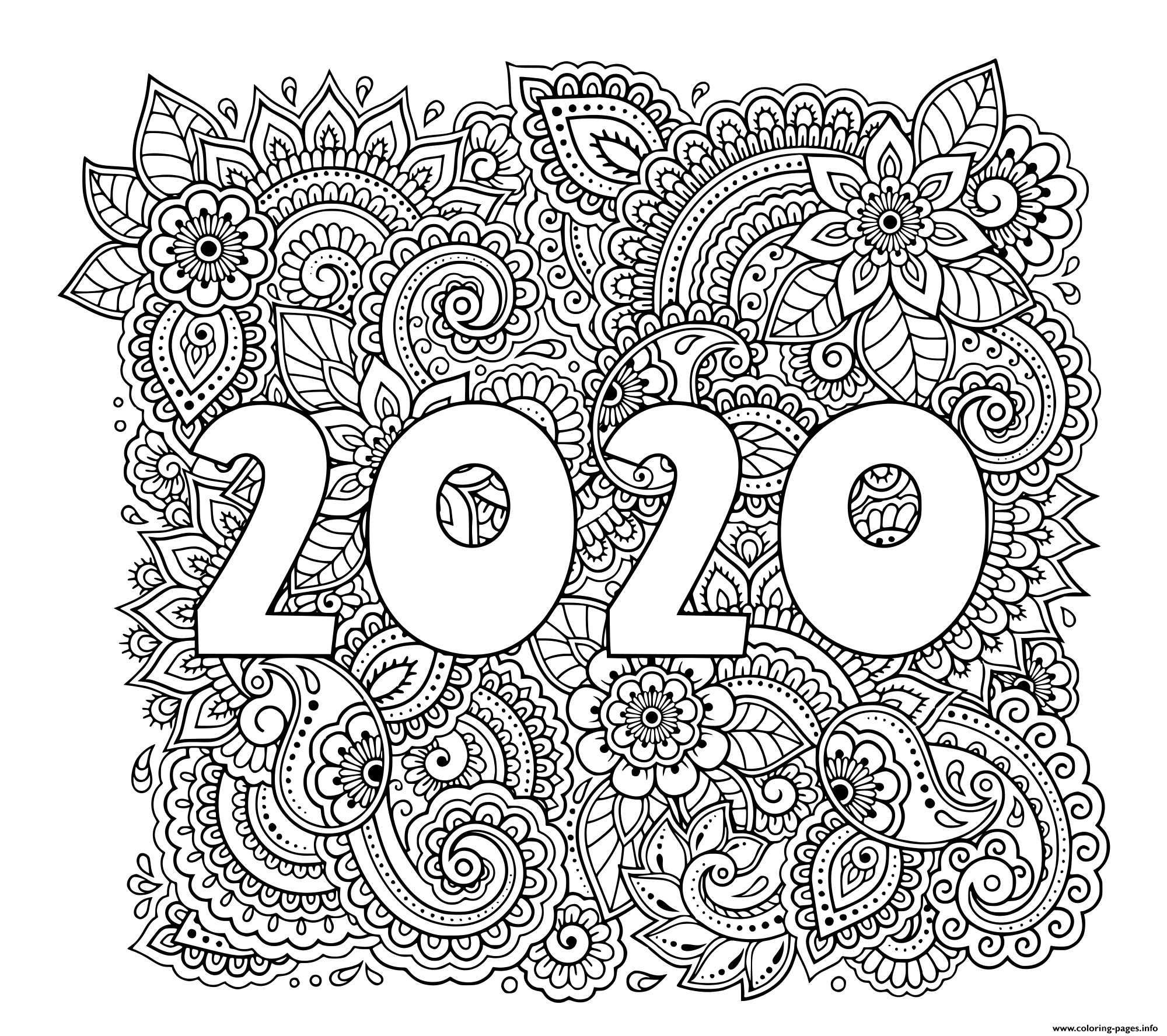 chinese new year coloring pages 2020 happy new year 2020 with mouse coloring pages get coloring year 2020 pages new chinese