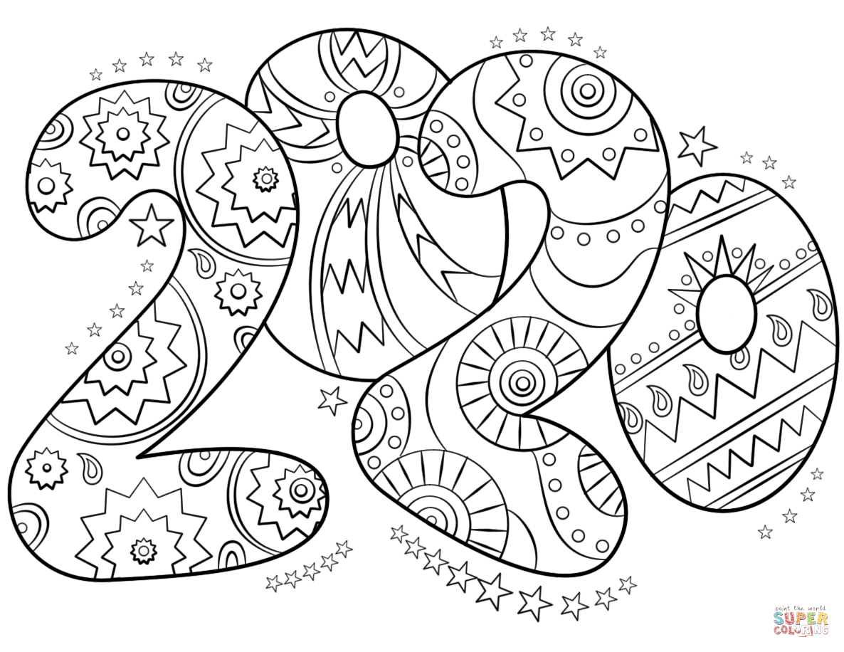 chinese new year coloring pages 2020 printable 2020 new year zentangle coloring page get pages year 2020 coloring chinese new