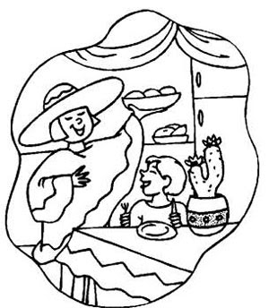 Christmas in mexico coloring sheets