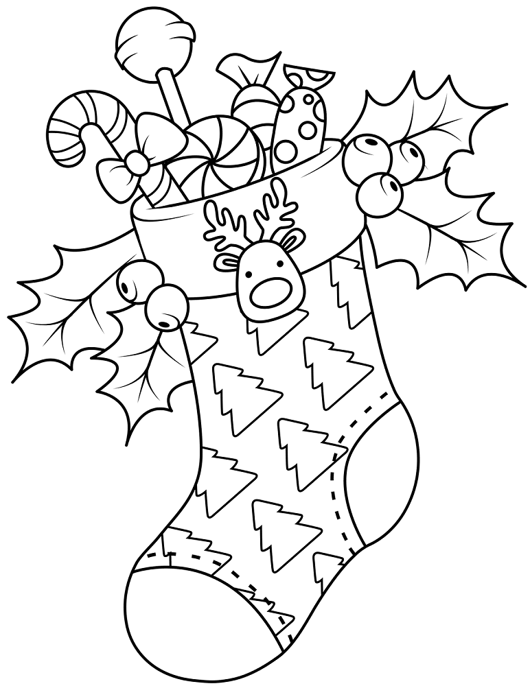 christmas stocking coloring pages christmas stocking coloring pages best coloring pages pages coloring stocking christmas