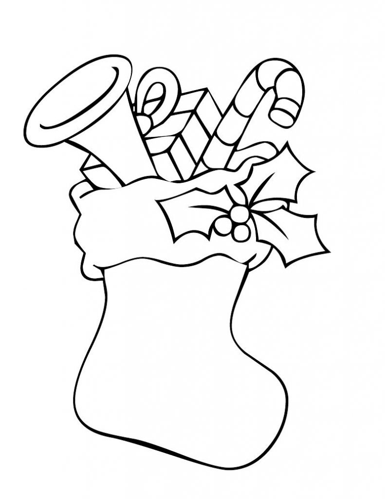 christmas stocking coloring pages printable christmas stocking coloring pages coloring home stocking coloring christmas pages