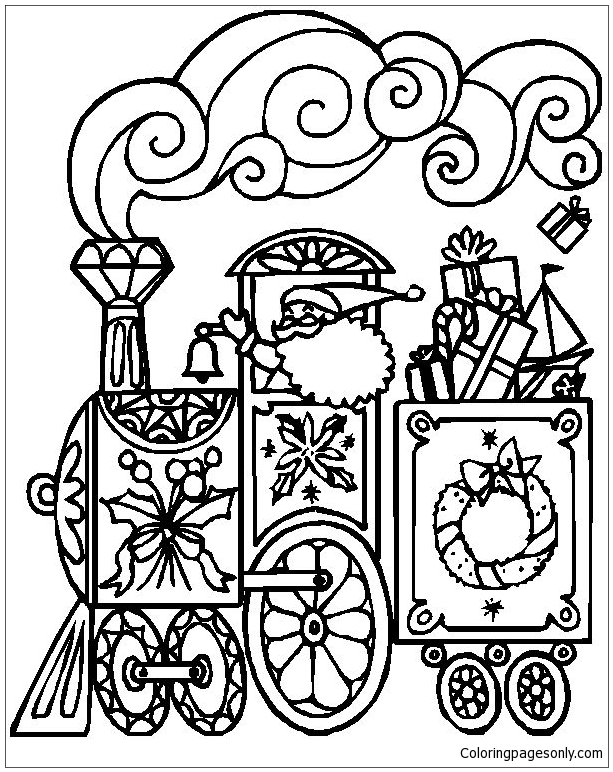 christmas train coloring pages christmas train coloring pages wallpapers9 pages train christmas coloring