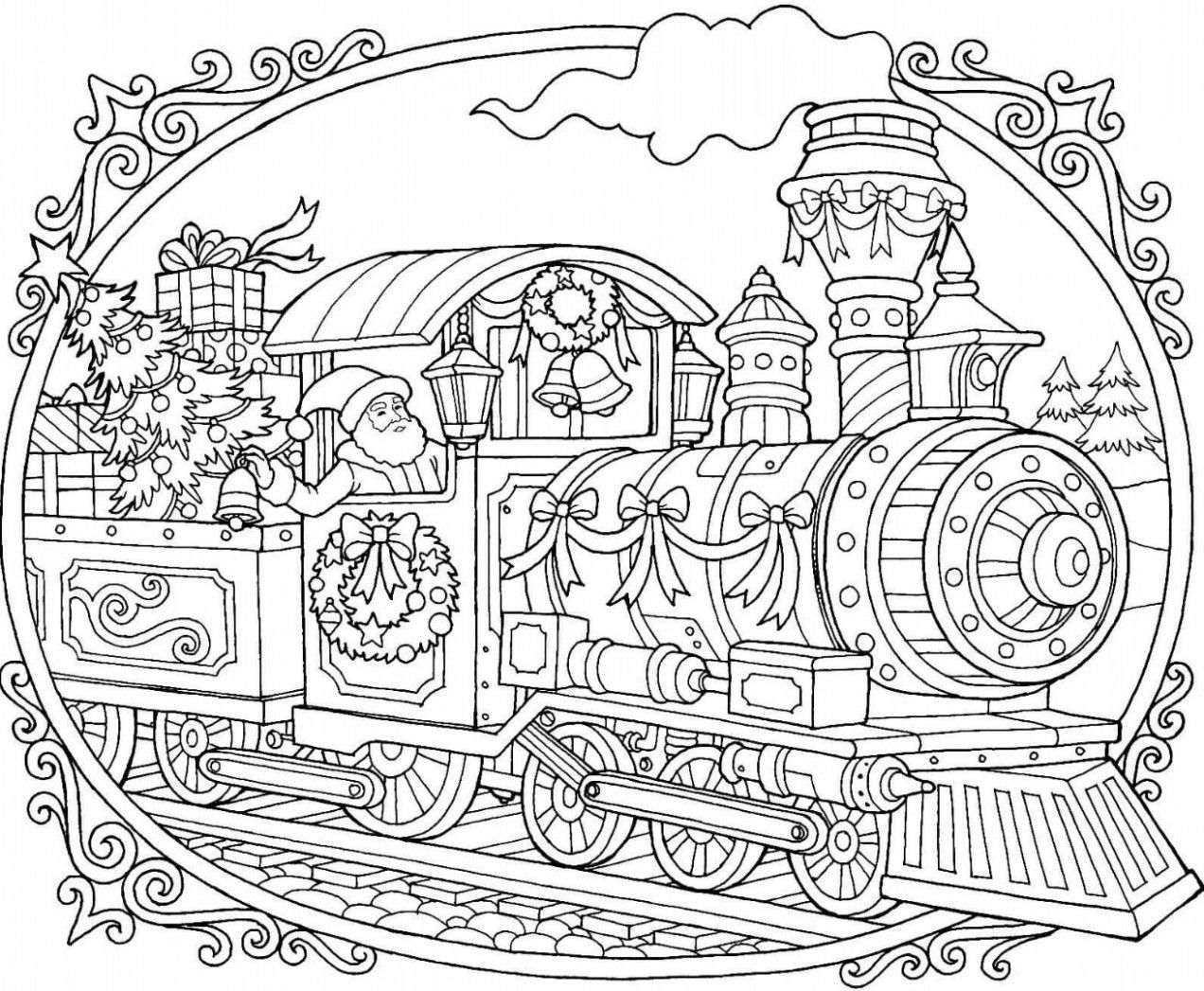 christmas train coloring pages thomas the train merry christmas s9ef8 coloring pages christmas pages coloring train
