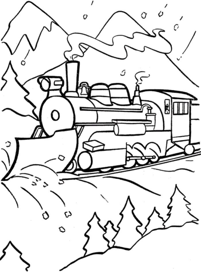 christmas train coloring pages thomas the train s christmas season437e coloring pages christmas coloring train pages