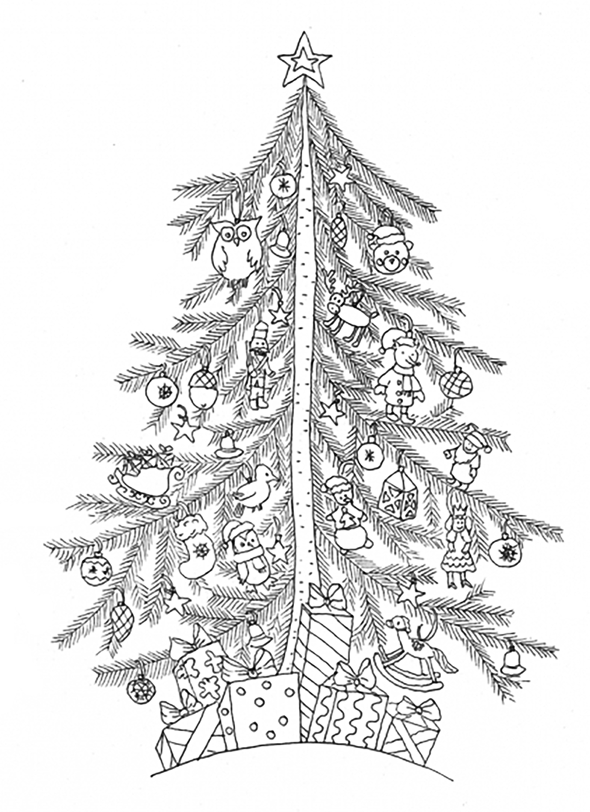 christmas tree coloring page printable craftsactvities and worksheets for preschooltoddler and christmas page coloring printable tree