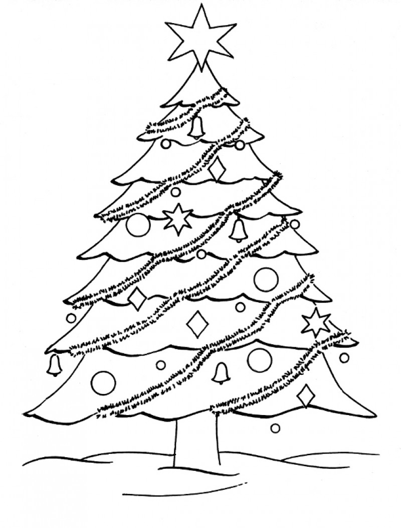 christmas tree to color christmas tree coloring pages for childrens printable for free christmas color tree to 1 1