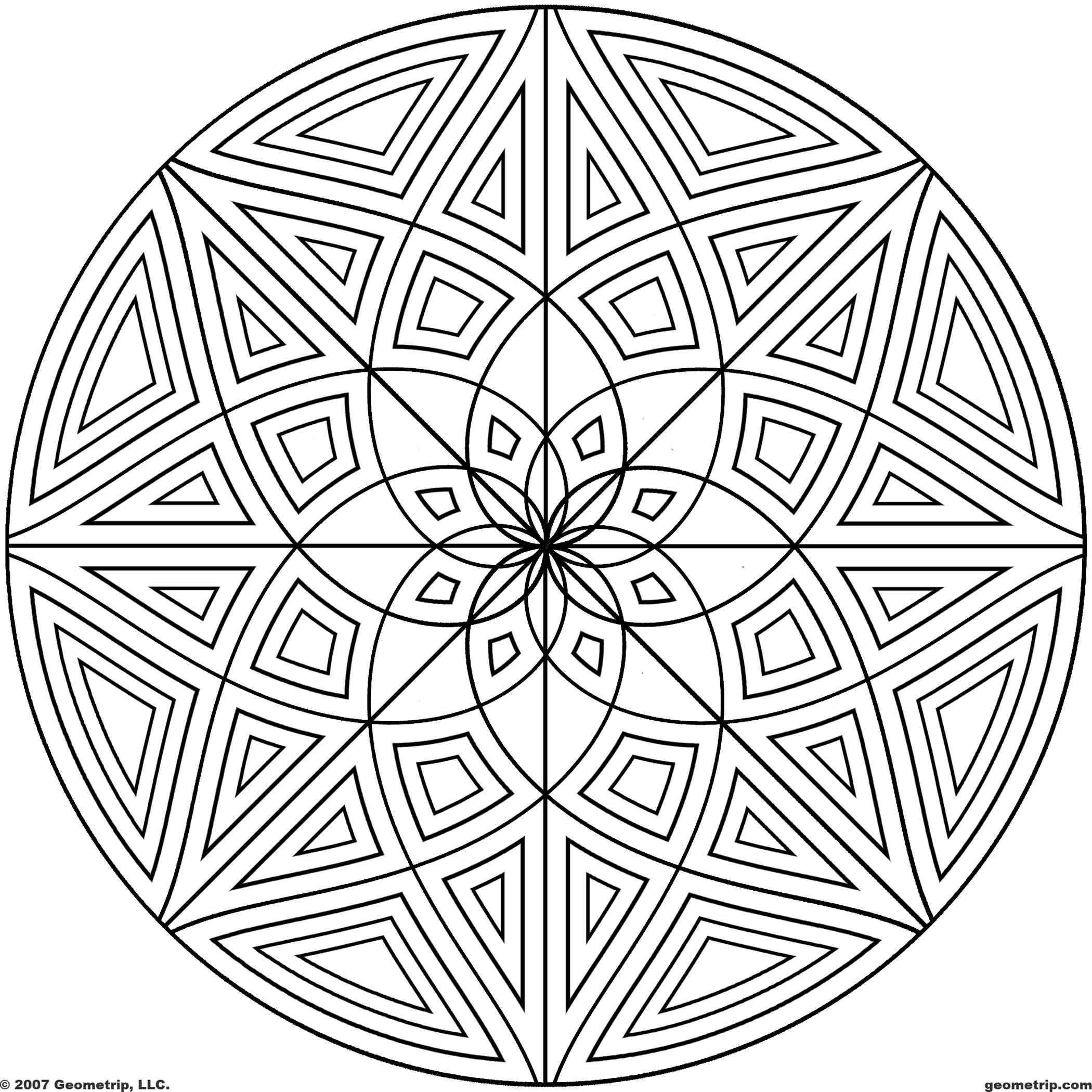 circle coloring 3d coloring pages printable coloring home coloring circle