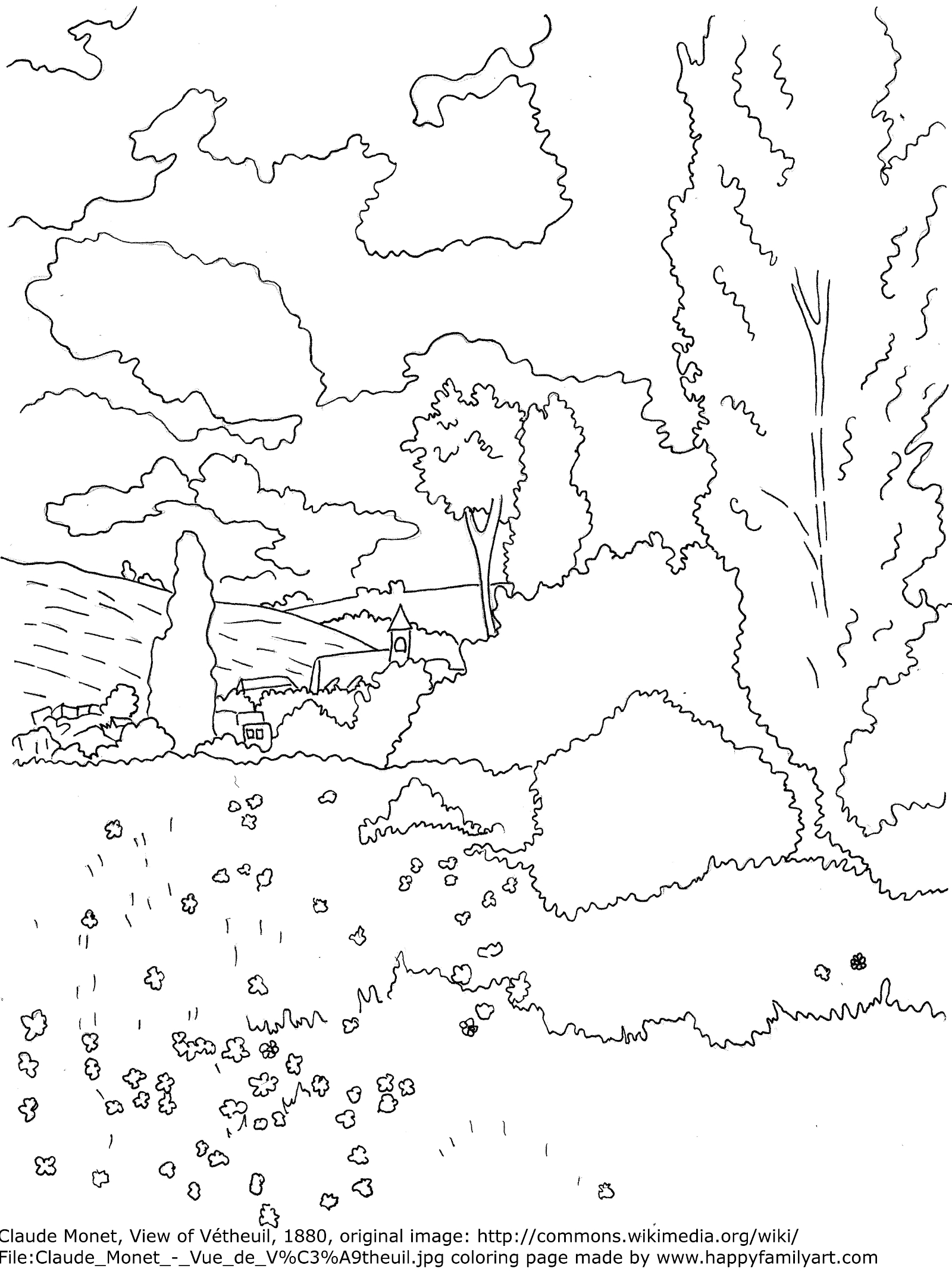 claude monet coloring pages 916 best images about coloring famous paintings on coloring monet claude pages