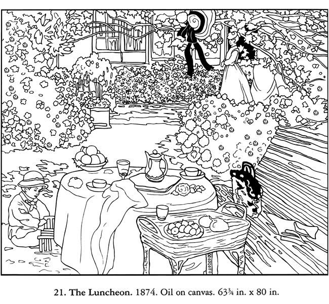 claude monet coloring pages monet the early years coloring book claude monet coloring pages