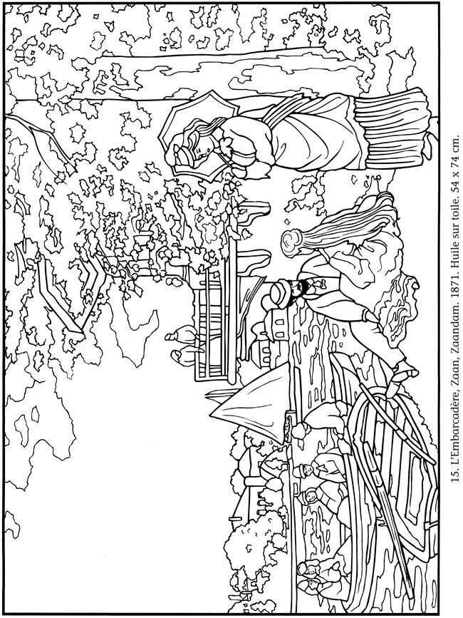 claude monet coloring pages the water lily pond 1899 by claude monet adult coloring pages monet coloring claude