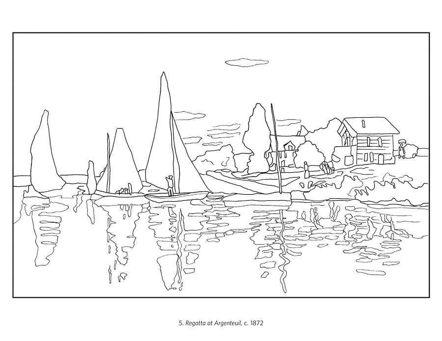 claude monet coloring pages the water lily pond 1899 by claude monet adult coloring pages monet coloring claude 1 1