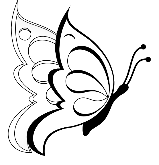 clipart coloring pages butterfly coloring pages pages coloring clipart