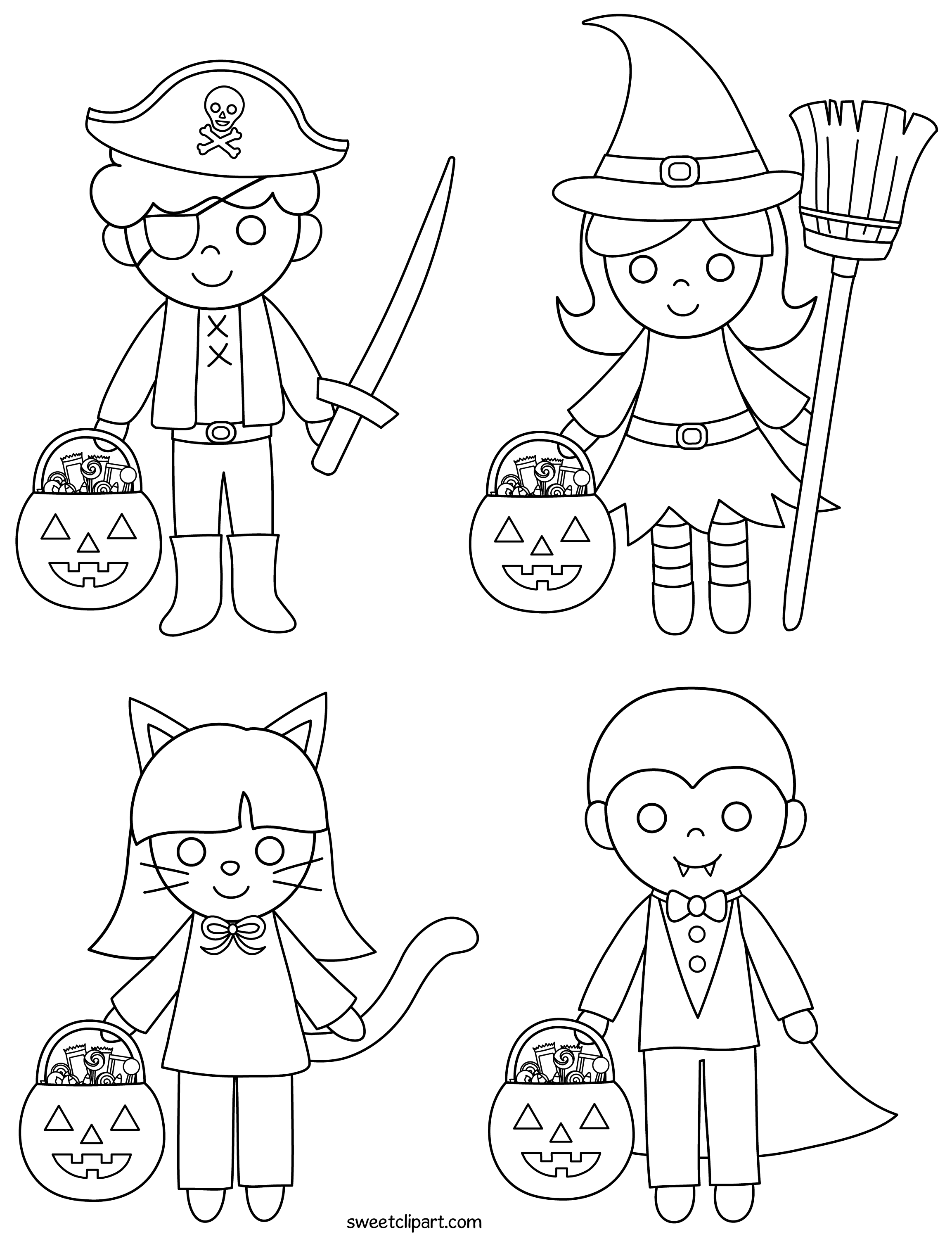 clipart coloring pages halloween kids coloring page free clip art coloring pages clipart