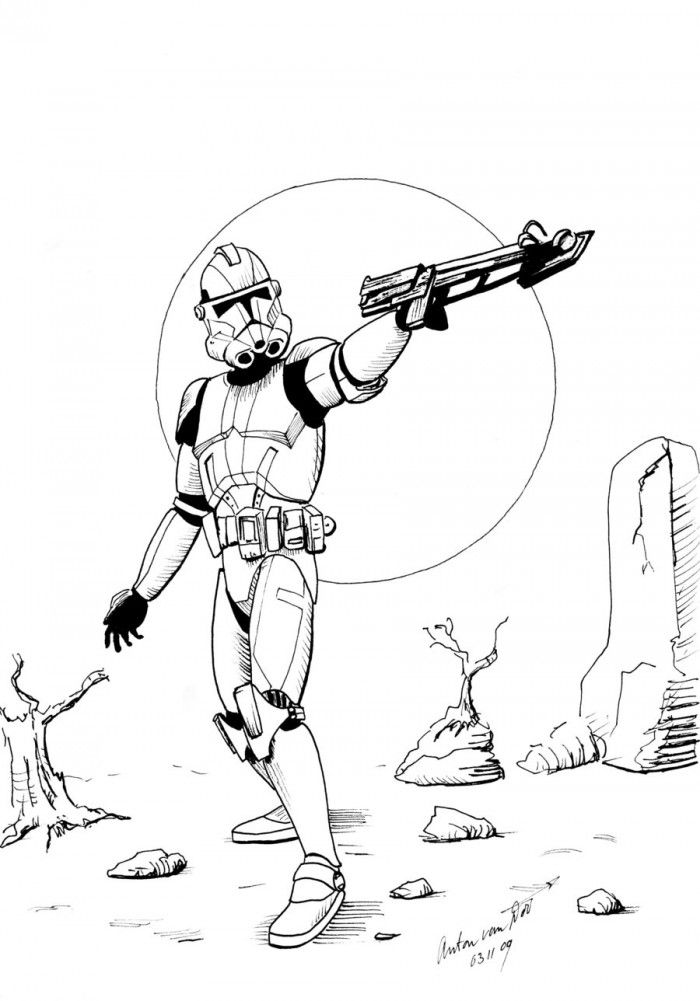 clone wars coloring the clone troopers pursuing in star wars coloring page clone wars coloring