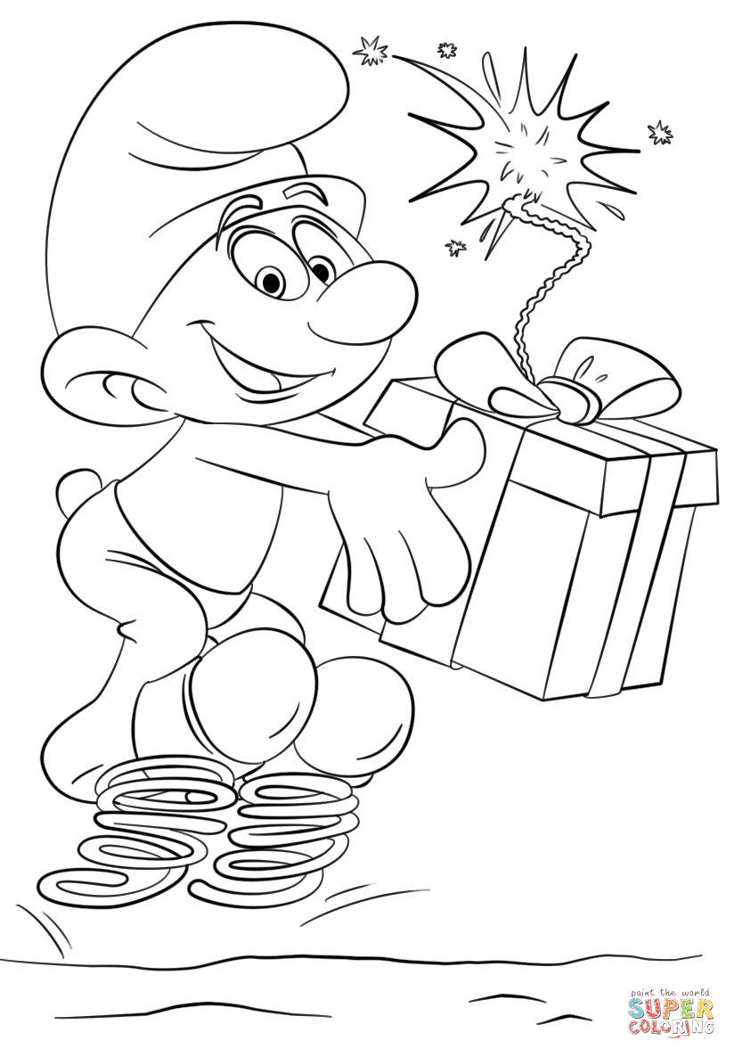 clumsy smurf coloring pages coloring page the smurfs clumsy pages coloring smurf