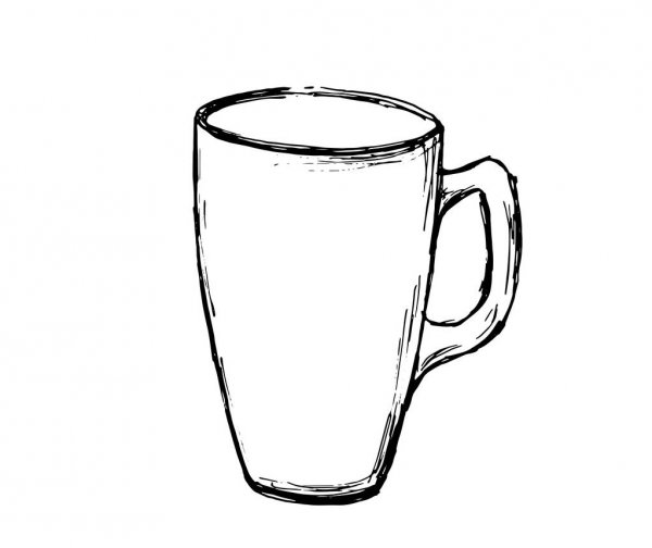 coffee cup sketch sketch cup of coffee latte illustration draft capuccino sketch coffee cup