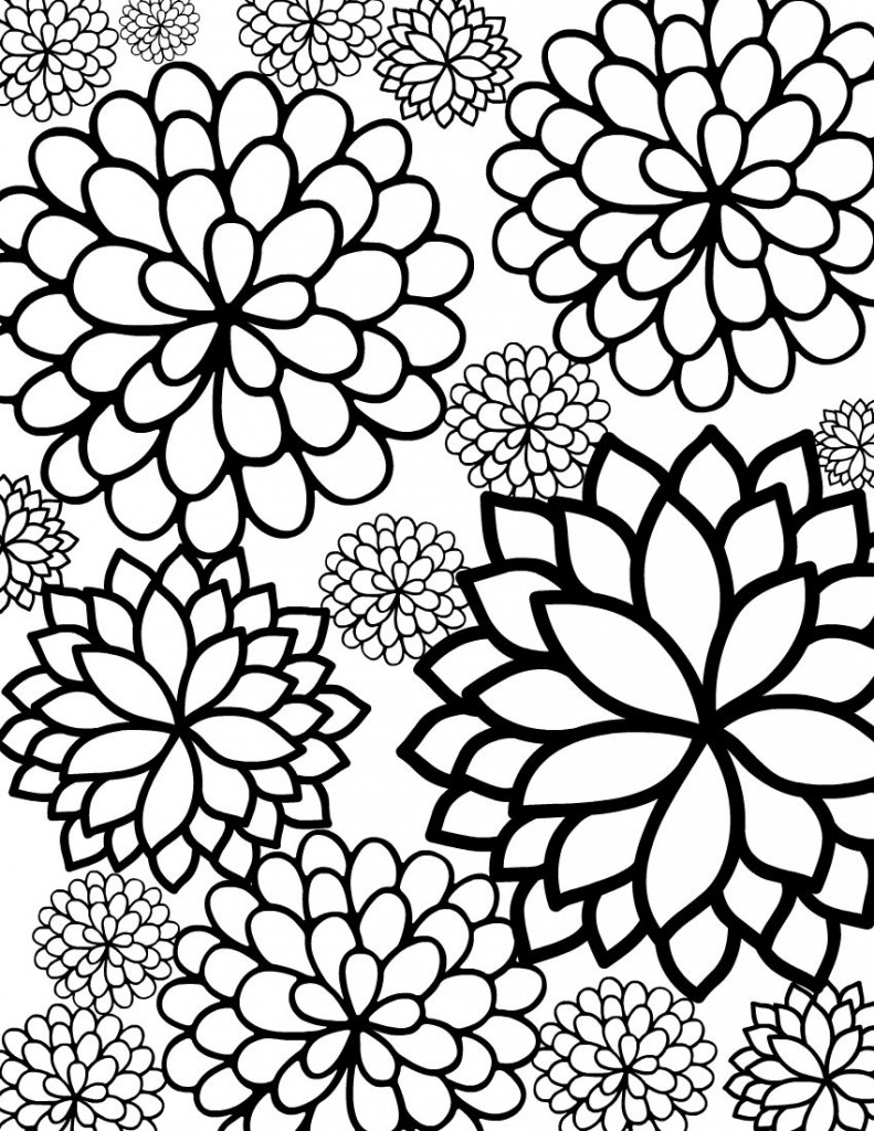 color page flower bouquet of flowers coloring pages for childrens printable page color flower 1 1