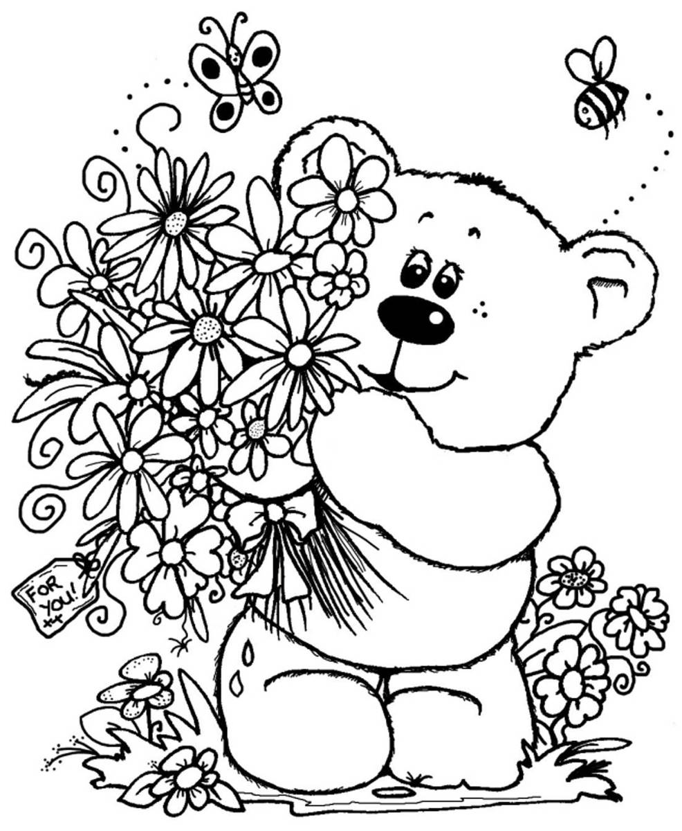 color page flower flower coloring printables for kids page flower color