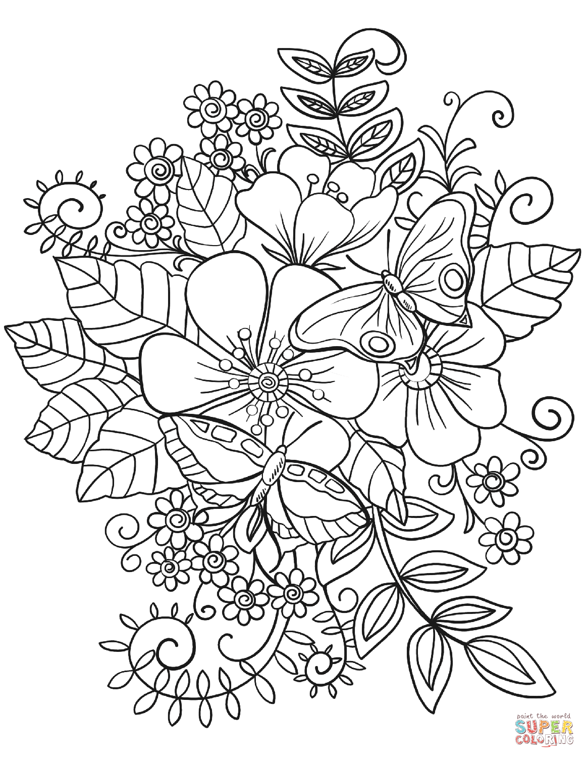 color page flower free printable flower coloring pages for kids page color flower