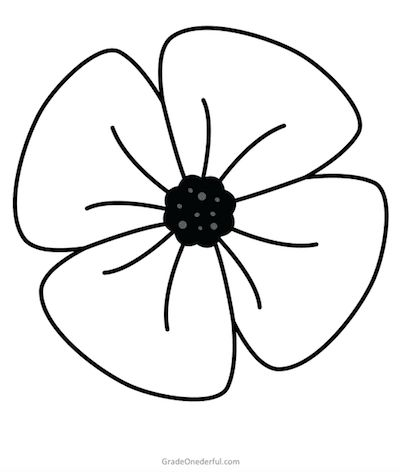 color poppy remembrance day colouring book free in 2020 poppy poppy color