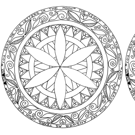 color your own mandala adult coloring posters photo prints zazzle mandala own color your