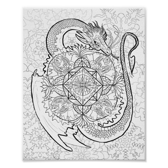 color your own mandala adult coloring posters photo prints zazzle own mandala color your