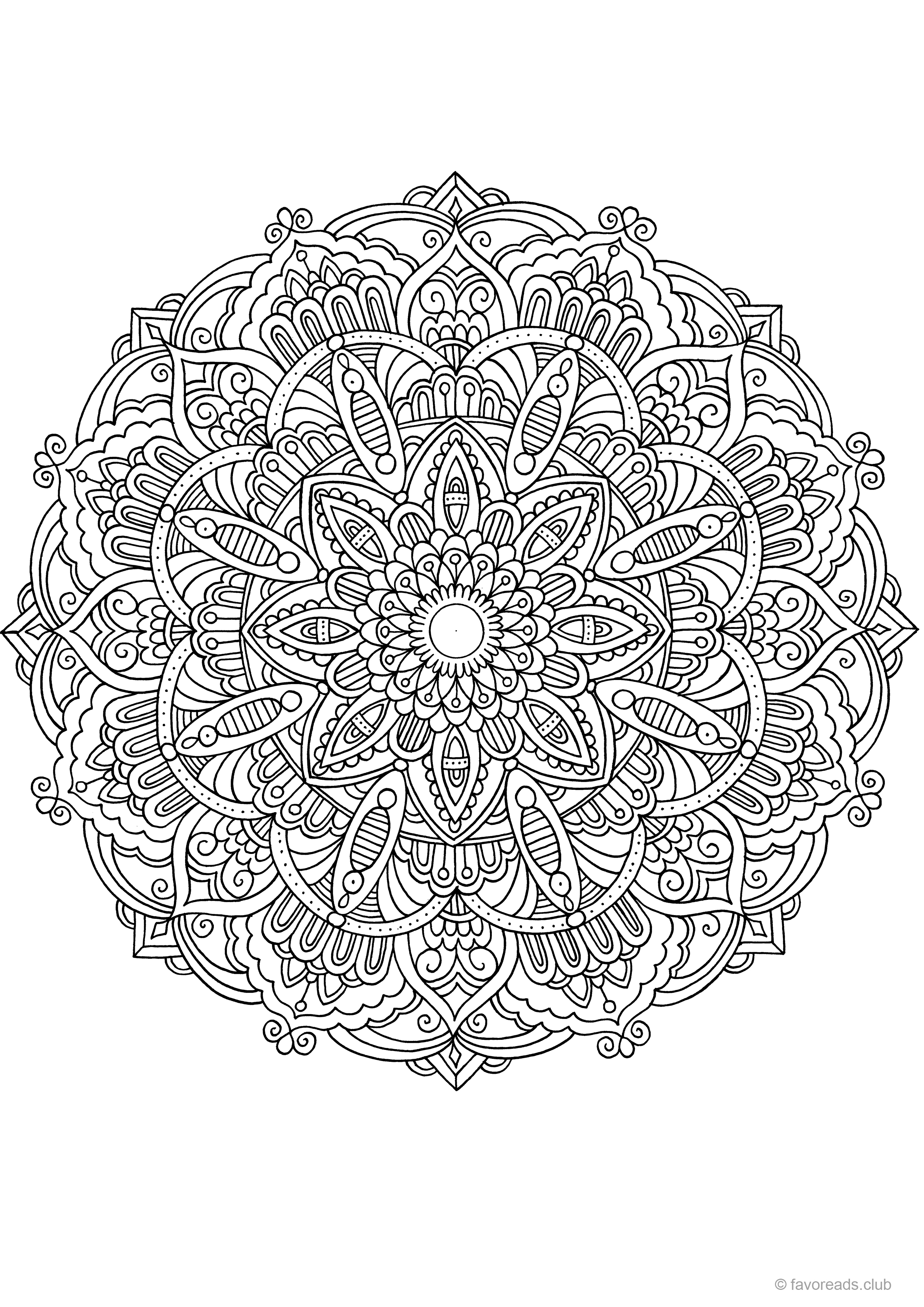 color your own mandala color your own palm tree mandala coloring poster zazzlecom your mandala color own