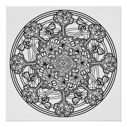 color your own mandala color your own pineapple mandala coloring poster zazzlecom own mandala color your