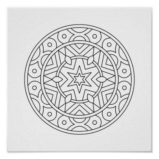 color your own mandala color your own snakes mandala coloring poster zazzlecom own color mandala your