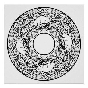color your own mandala color your own treasure mandala coloring poste poster mandala own color your