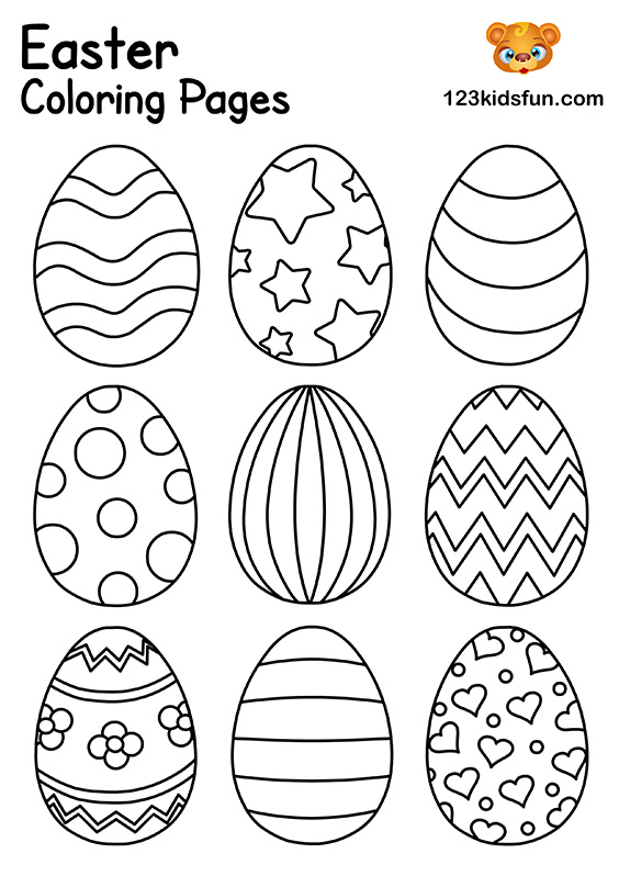 colorful easter egg pictures coloring pages coloring eggs easter colorful egg pictures easter