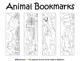 coloring animal bookmarks 16 best reading images on pinterest adult coloring animal bookmarks coloring