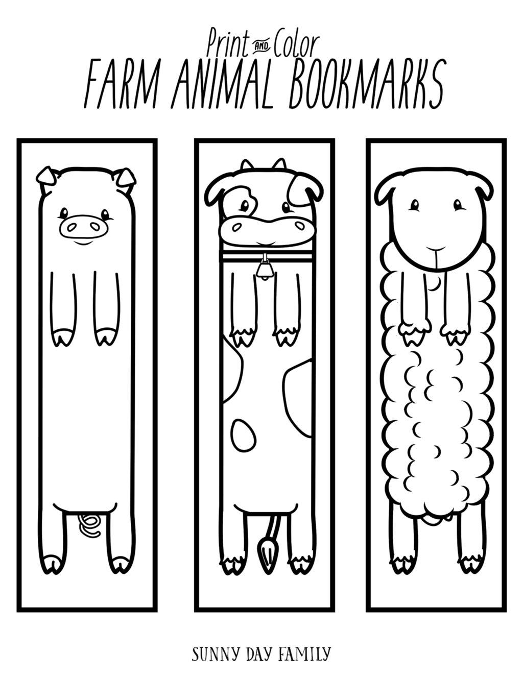 Coloring animal bookmarks