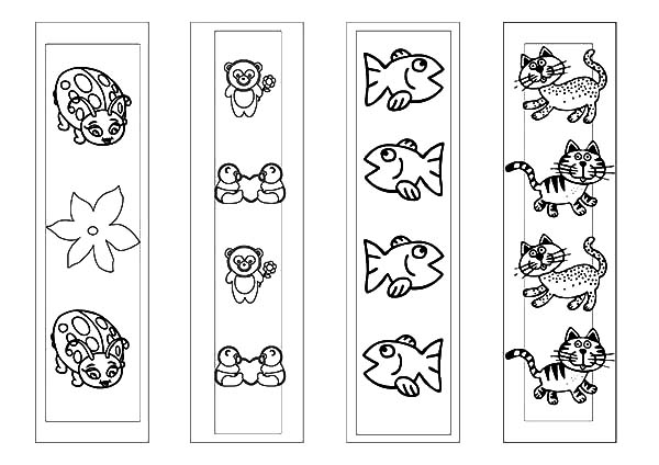 coloring animal bookmarks bookmark coloring pages at getcoloringscom free bookmarks animal coloring