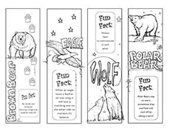 coloring animal bookmarks set of 8 animals insects bible coloring bookmarks cute bookmarks animal coloring 1 1