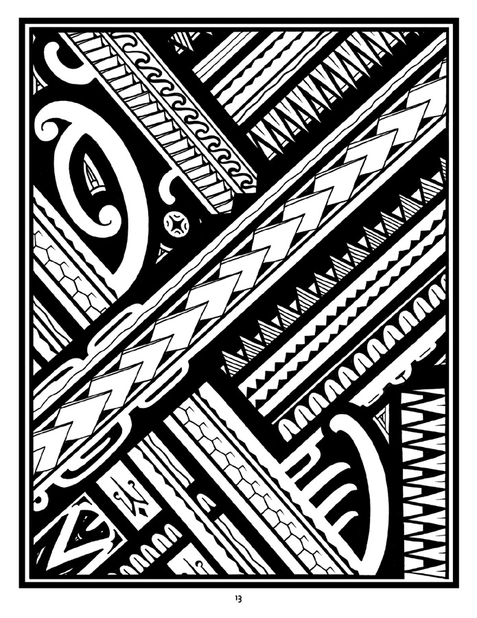 coloring art set tattoo a coloring book of polynesian art by anthony j set art coloring